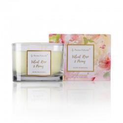 Aroma Naturals Velká svíčka Fleur - Sametová růže a pivoňka